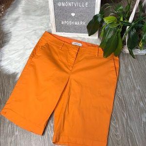 Nautica Size 12 Orange Cotton Bermuda Shorts